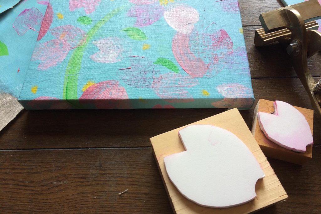 桜を描き、桜と暮らす。@イオンモール広島府中ママトコテラス(3/24,25)