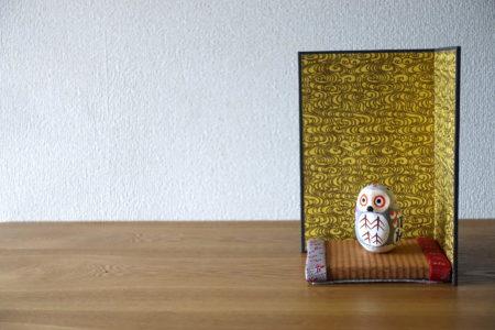 間をとる、小さな屏風と小さな畳。@イオンモール広島府中ママトコテラス(9/21,22)